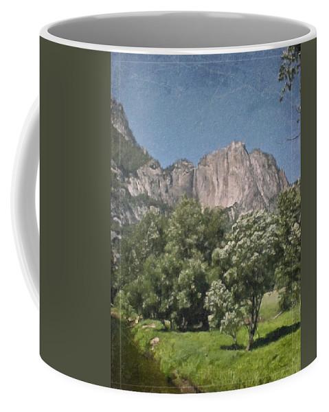 Landscape Coffee Mug featuring the painting Vintage Yosemite by Teresa Mucha
