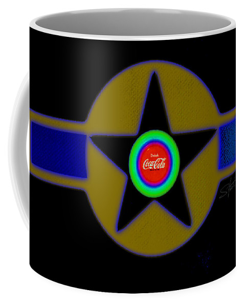 Usaaf Coffee Mug featuring the painting Violet by Charles Stuart