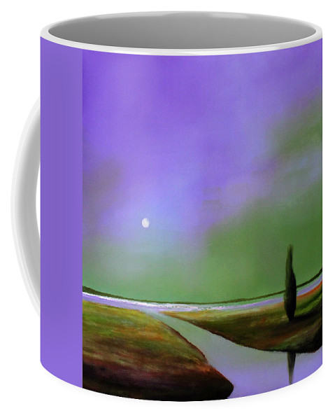 Purple Coffee Mug featuring the painting Violet Night by Toni Grote