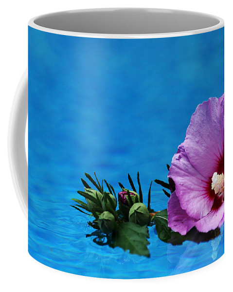Rose Of Sharon Coffee Mug featuring the photograph Violet Satin by Debbie Oppermann