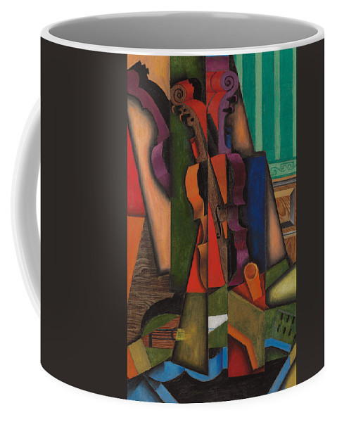 Abstract Art Coffee Mug featuring the painting Violin And Guitar by Juan Gris