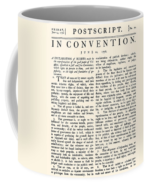 1776 Coffee Mug featuring the photograph Virginia Constitution, 1776 by Granger