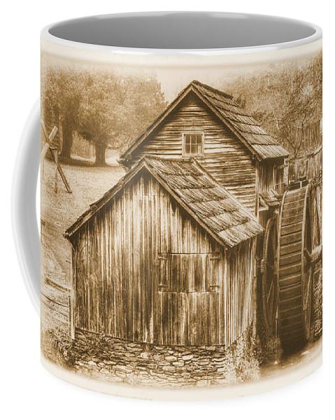 Mabry Mill Coffee Mug featuring the photograph Virginia Country Roads - Mabry Mill No. 23 Sepia - Blue Ridge Parkway, Floyd County by Michael Mazaika