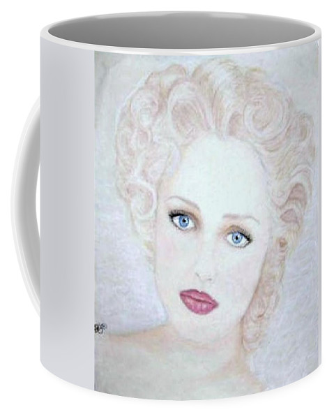 Face Coffee Mug featuring the drawing Virginia by Scarlett Royal