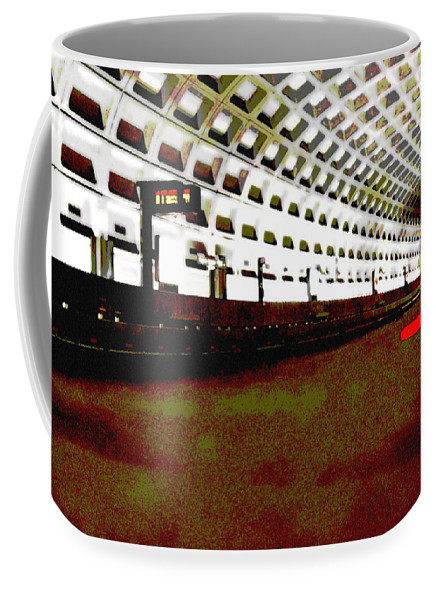 Subway Coffee Mug featuring the photograph Virginia Square Metro II by Michelle Hastings