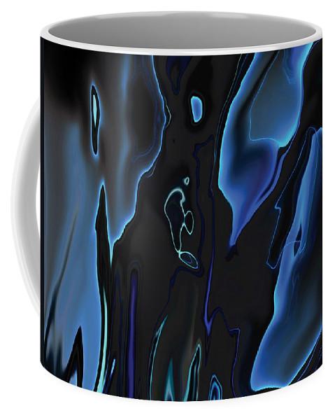 Abstract Coffee Mug featuring the digital art Virtual Life 1 by Rabi Khan