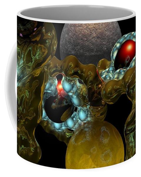 Space Coffee Mug featuring the digital art Virus by David Lane