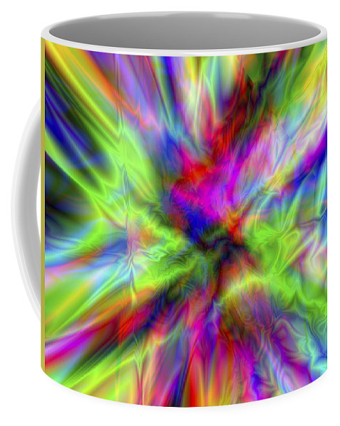 Colors Coffee Mug featuring the digital art Vision 1 by Jacques Raffin