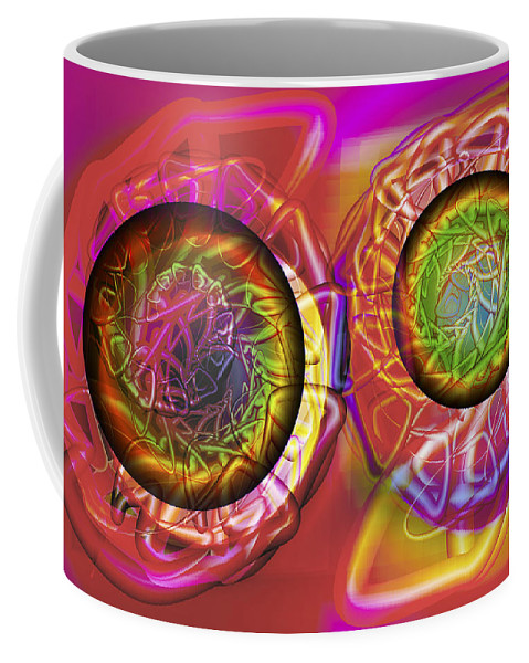 Crazy Coffee Mug featuring the digital art Vision 42 by Jacques Raffin