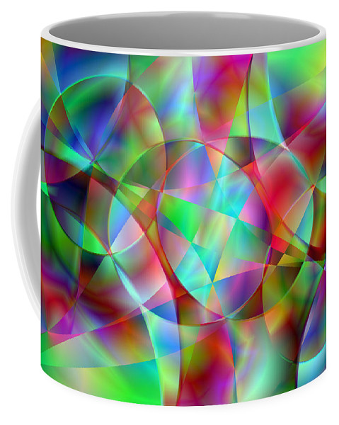 Colors Coffee Mug featuring the digital art Vision 27 by Jacques Raffin