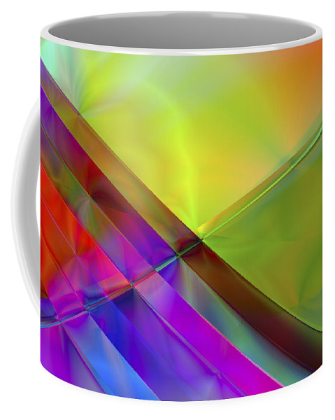 Colors Coffee Mug featuring the digital art Vision 3 by Jacques Raffin