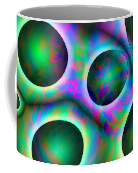 Colors Coffee Mug featuring the digital art Vision 30 by Jacques Raffin