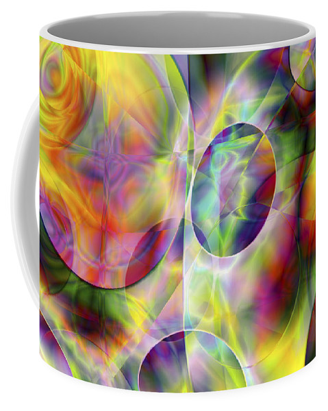 Colors Coffee Mug featuring the digital art Vision 36 by Jacques Raffin