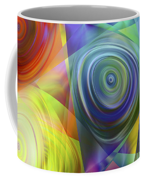 Colors Coffee Mug featuring the digital art Vision 39 by Jacques Raffin