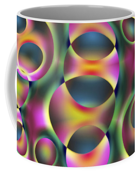 Colors Coffee Mug featuring the digital art Vision 40 by Jacques Raffin