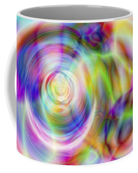 Crazy Coffee Mug featuring the digital art Vision 7 by Jacques Raffin