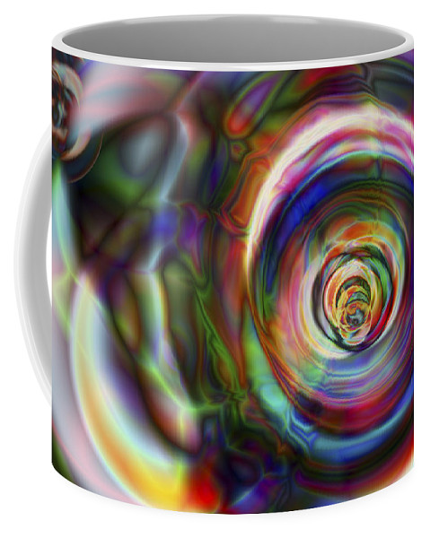 Crazy Coffee Mug featuring the digital art Vision 8 by Jacques Raffin