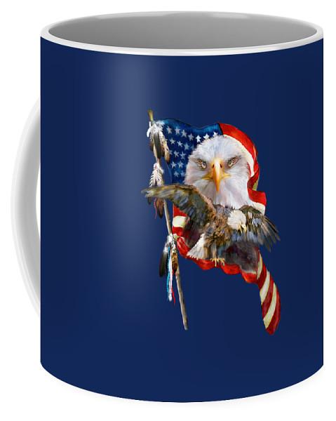Carol Cavalaris Coffee Mug featuring the mixed media Vision Of Freedom by Carol Cavalaris