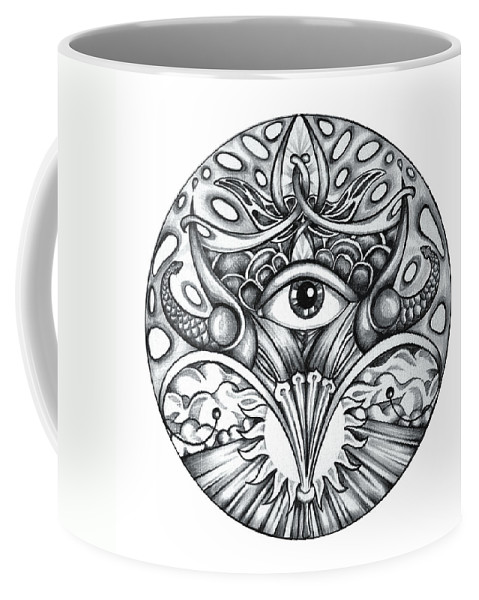 Eye Coffee Mug featuring the drawing Vision by Shadia Derbyshire