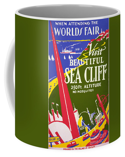 Visit Beautiful Sea Cliff Coffee Mug featuring the painting Visit Beautiful Sea Cliff by Celestial Images