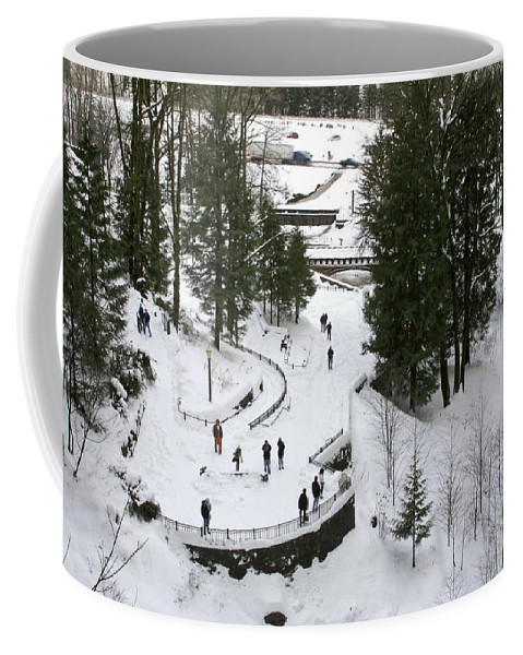 Visitor Viewpoint From The Bridge Coffee Mug featuring the photograph Visitor Viewpoint From The Bridge by Wes and Dotty Weber