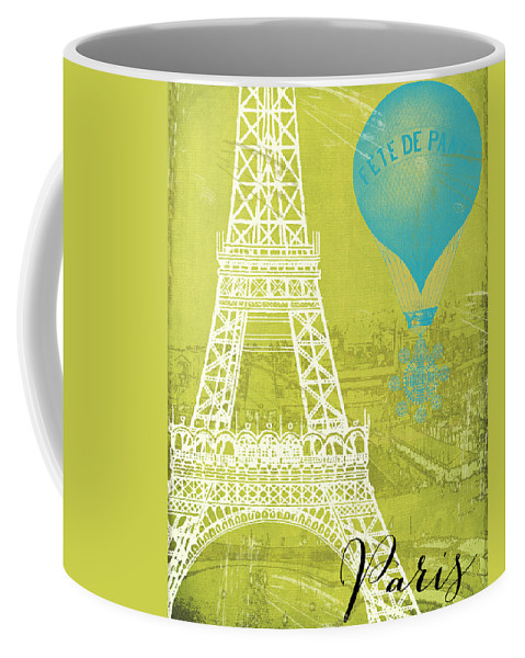 Paris Coffee Mug featuring the painting Viva La Paris by Mindy Sommers