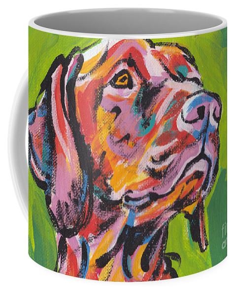 Vizsla Coffee Mug featuring the painting Viva La Vizsla by Lea S