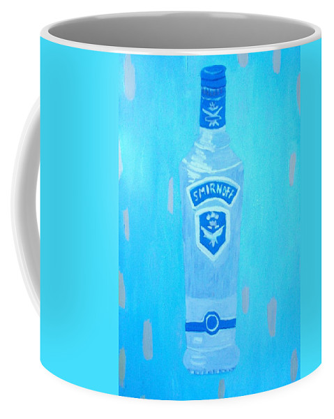 Pop Art Coffee Mug featuring the painting Vodka by Patrice Tullai