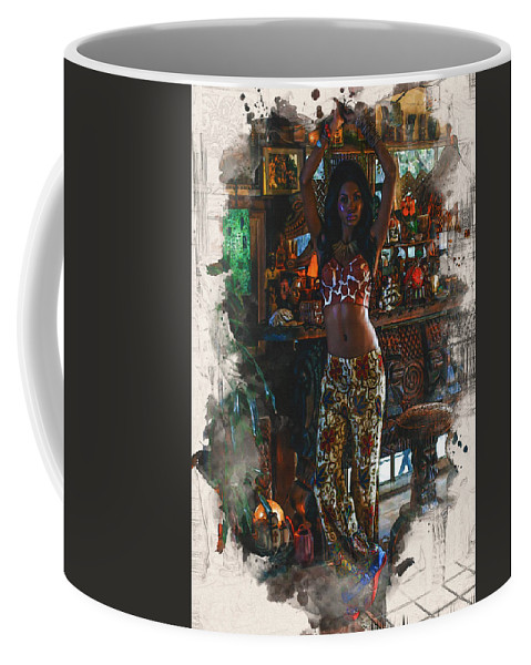 Home Art Coffee Mug featuring the digital art Vodoo Child by Don Kuing