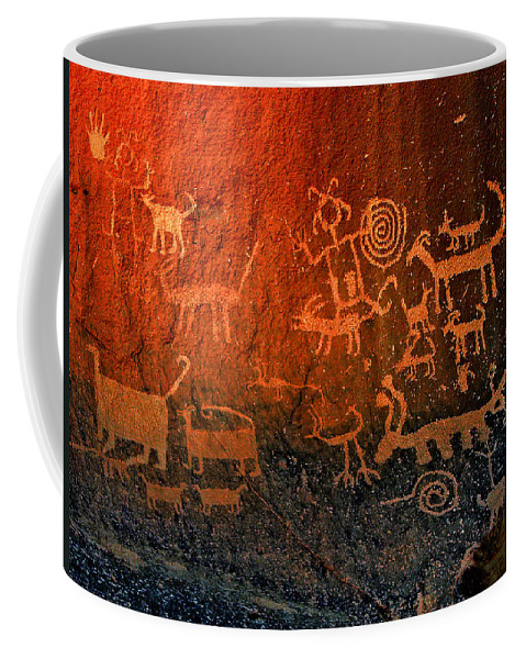 Petroglyphs Coffee Mug featuring the photograph Voices Of The Past by Pablo DeLuna
