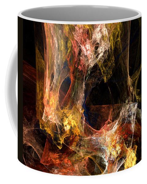 ruth Palmer Coffee Mug featuring the digital art Voids by Ruth Palmer