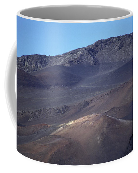 Volcanic Rock Coffee Mug featuring the photograph Volcanic Cinder Cones In Haleakala by Rich Reid