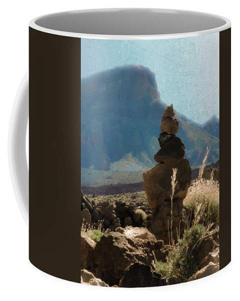 Loriental Coffee Mug featuring the photograph Volcanic Desert Composition by Loriental Photography
