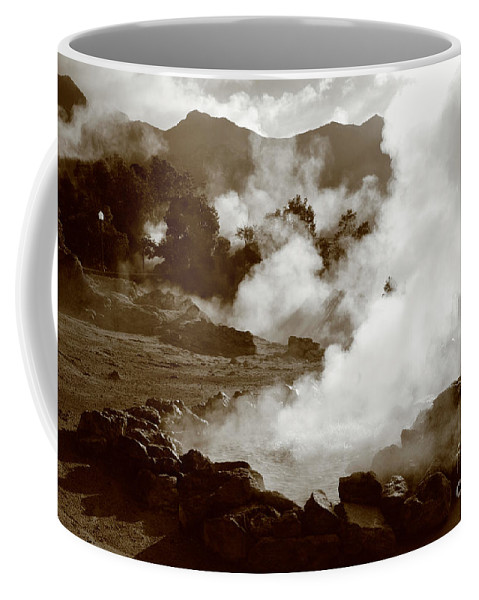 Azores Coffee Mug featuring the photograph Volcanic Steam by Gaspar Avila
