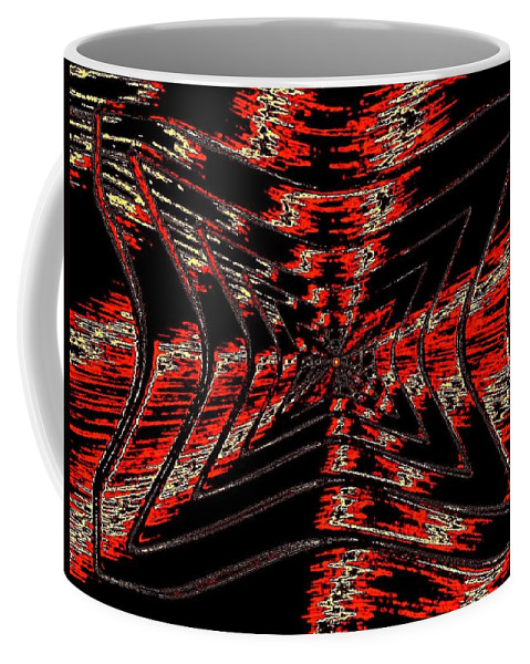 Abstract Coffee Mug featuring the digital art Voltage by Will Borden