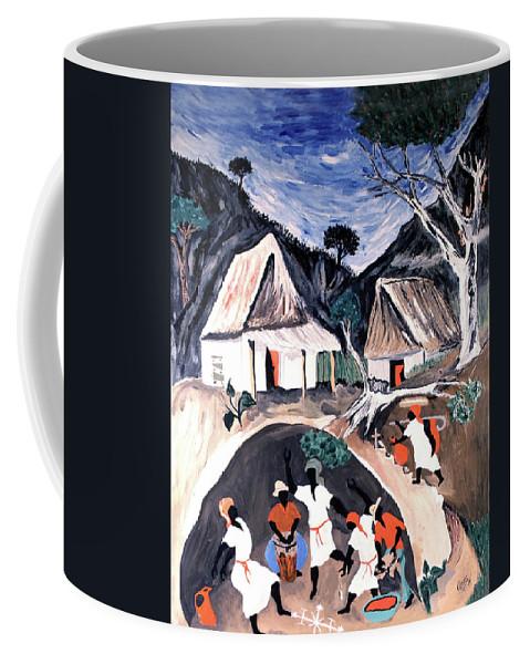 Voodoo Coffee Mug featuring the mixed media Voodoo by Renee Catherine Wittmann