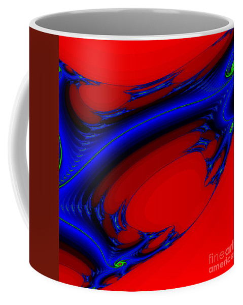 Clay Coffee Mug featuring the digital art Vortex Extreme Fractal by Clayton Bruster