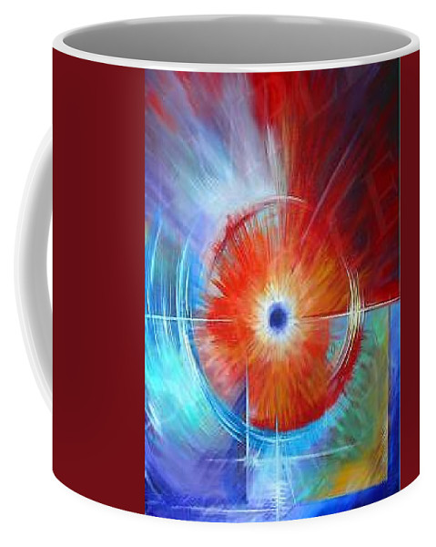 Clouds Coffee Mug featuring the painting Vortex by James Christopher Hill
