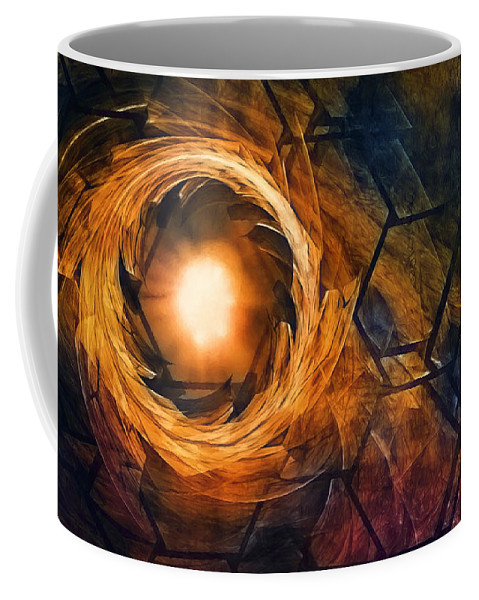 Fire Coffee Mug featuring the photograph Vortex Of Fire by Scott Norris