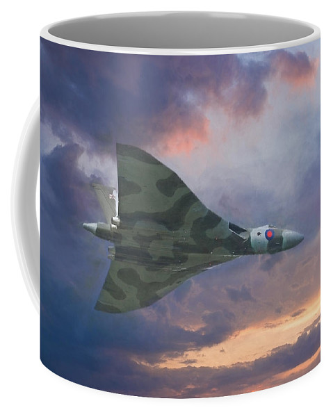 Aeronautics Coffee Mug featuring the digital art Vulcan Bomber 2 by Roy Pedersen