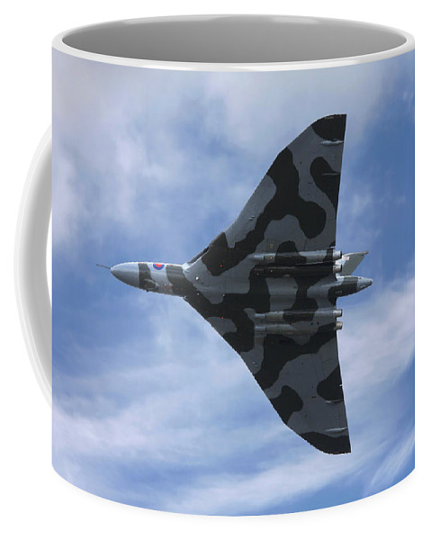 Wing Coffee Mug featuring the photograph Vulcan Bomber by Steve Ball