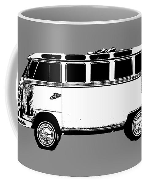 Vw Coffee Mug featuring the photograph Vw Bug T-shirt by Edward Fielding