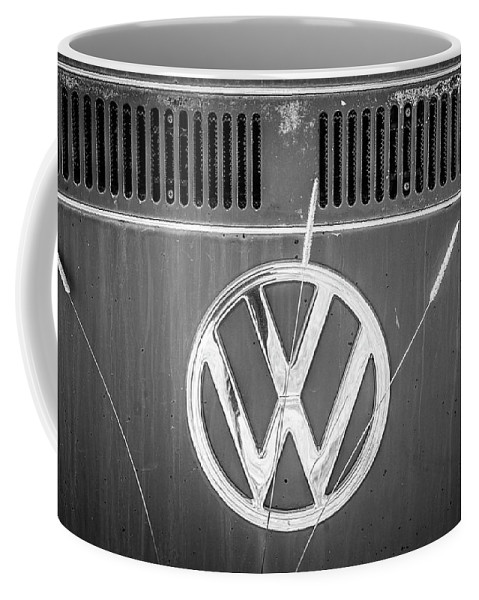 Volkswagen Coffee Mug featuring the photograph Vw Van Logo by Marilyn Hunt