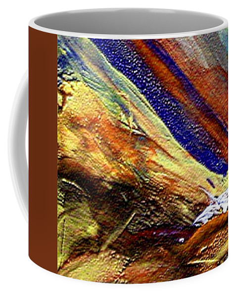 Encaustic Mixed Media Coffee Mug featuring the mixed media W 007 by Dragica Micki Fortuna