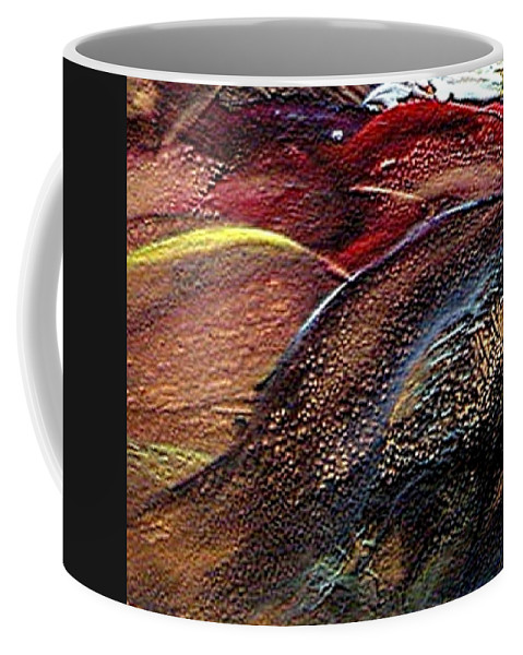 Hills Coffee Mug featuring the painting W 010- Hills by Dragica Micki Fortuna