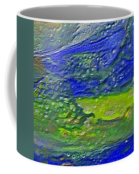 Encaustic Painting Coffee Mug featuring the painting W 029 by Dragica Micki Fortuna