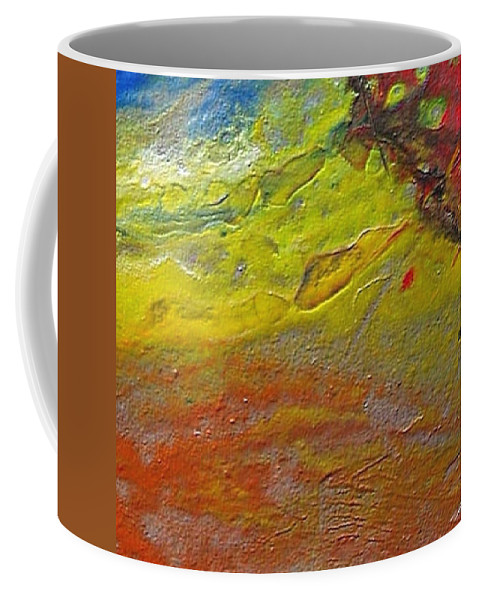 Encaustic Painting Coffee Mug featuring the painting W 030 by Dragica Micki Fortuna