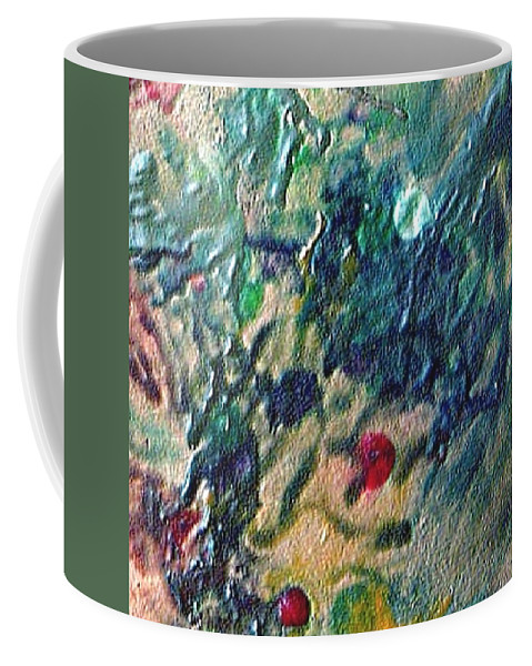 Abstract Coffee Mug featuring the painting W 032 by Dragica Micki Fortuna