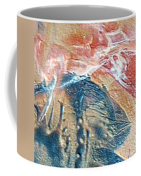 Abstract Coffee Mug featuring the painting W 033 by Dragica Micki Fortuna