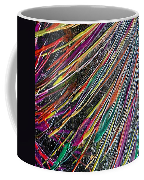 Abstract Coffee Mug featuring the painting W 035 by Dragica Micki Fortuna